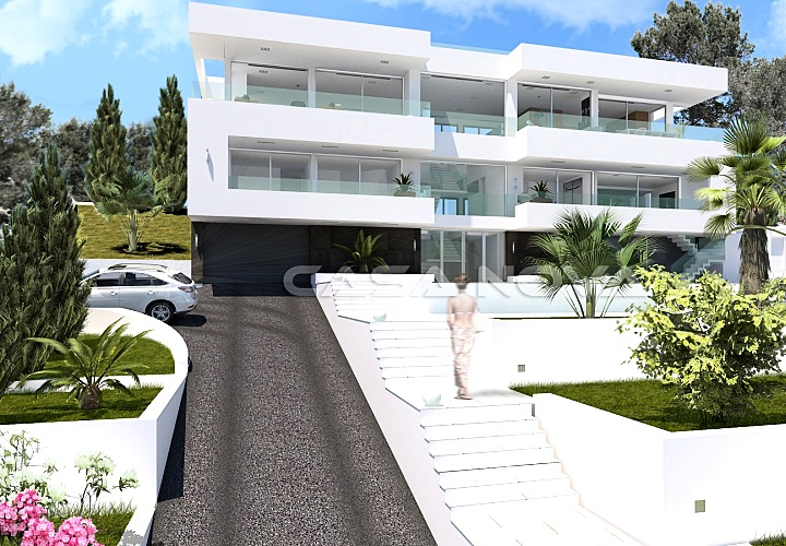 Real Estate Mallorca :Designervilla under construction